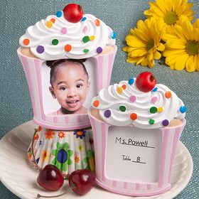 America is in the midst of a cupcake phenomenon! It seems everyone just can't get enough of these enticing little treats! So, Fashioncraft came up with the recipe for this fabulous favor and we're sure that it has all of the ingredients to add a sweet touch to your little girl's big day. And, whether you use it as a place card holder or to display a picture of your little cupcake herself, this favor is a guaranteed crowd pleaser.  #timelesstreasure