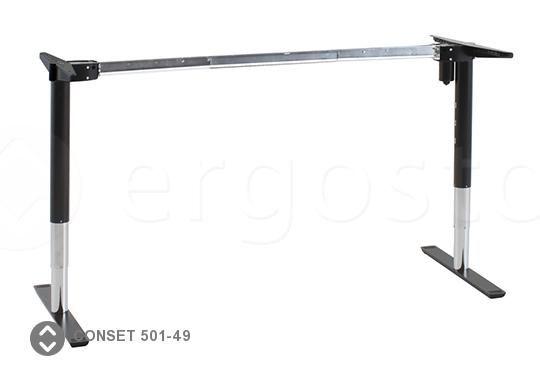 Стильная опора Conset 501-49 с регулировкой по высоте для столов