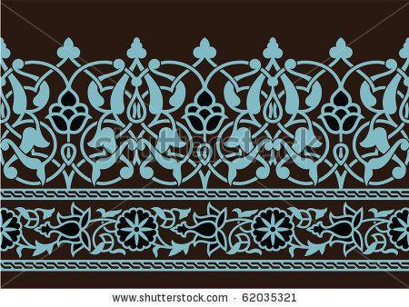 Tabriz Flower Seamless Border by Azat1976, via Shutterstock