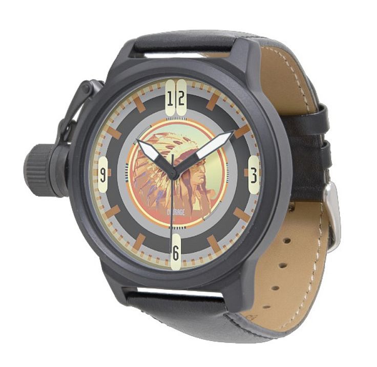 Vintage Indian Head Test Pattern 2.0 Watch by NDGRags on Zazzle. Very old school. Available in a large variety of style options.