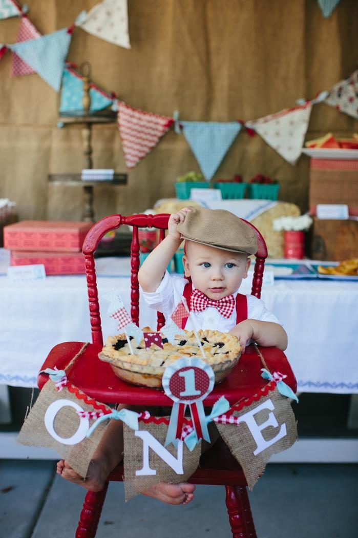SUPER CUTE County Fair Themed 1st Birthday Party with So Many Ideas via Kara's Party Ideas | KarasPartyIdeas.com #CountyFair #PartyIdeas #Supplies...