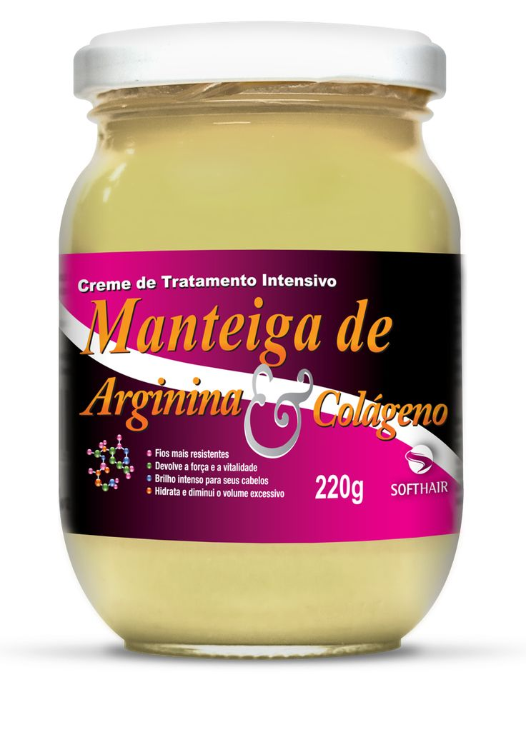 Softhair   Creme Manteiga de Arginina e Colágeno – 220g   Cosméticos em BH