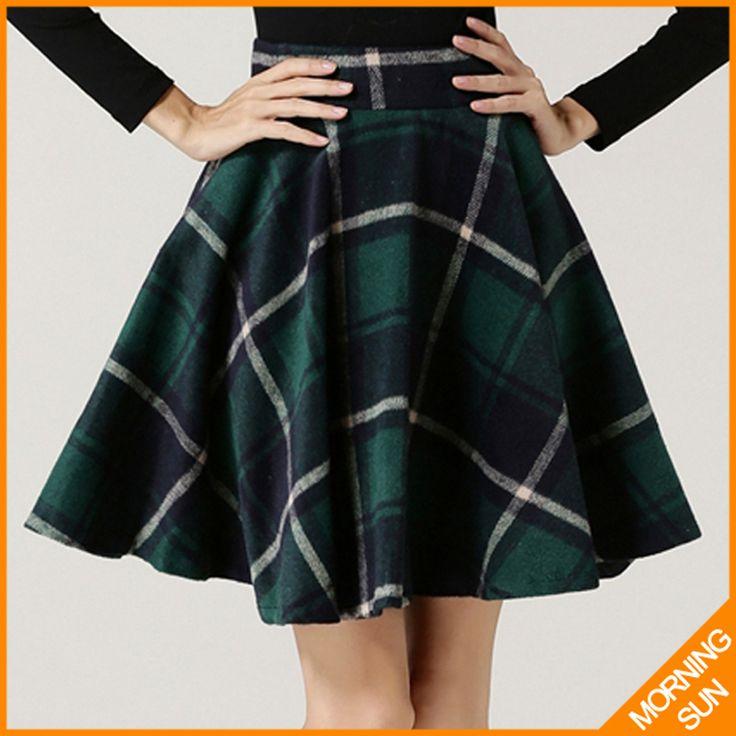 2015 de alta qualidade americano vestido inverno quente nova moda cinza guarda chuva grosso de lã saia xadrez para mulheres 0258 em Saias de Moda e Acessórios no AliExpress.com   Alibaba Group