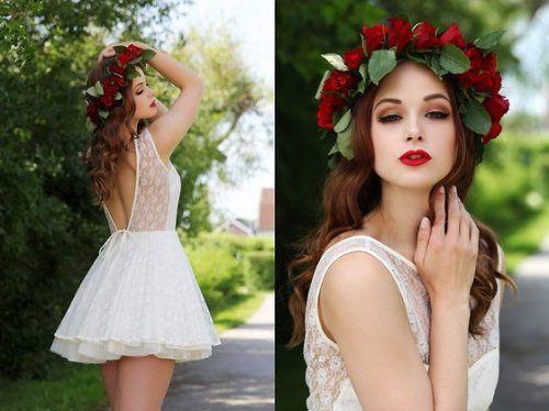 Прически с цветочным ободком