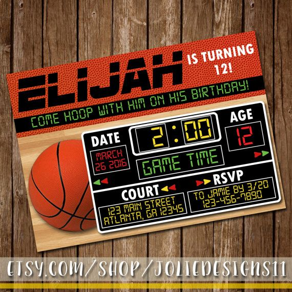 Hey, I found this really awesome Etsy listing at https://www.etsy.com/listing/269648069/basketball-birthday-invitation