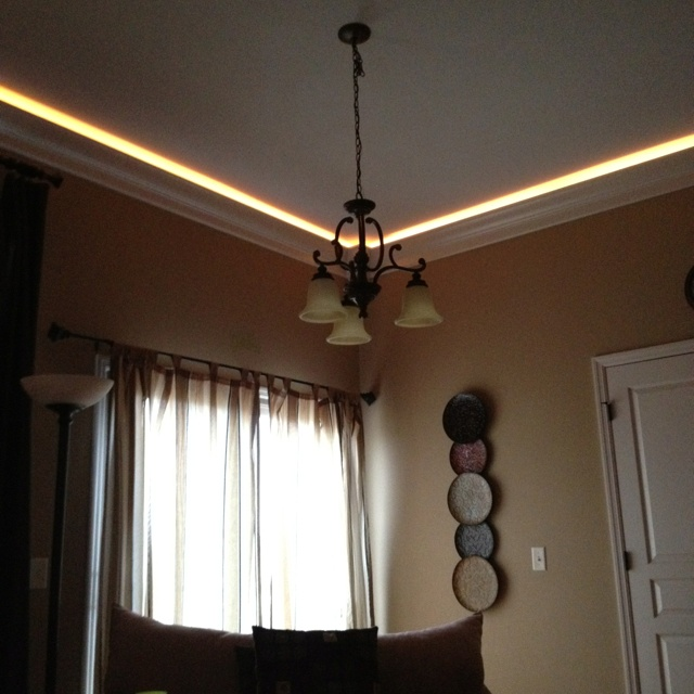 Home Theater Rope Lighting: Lighting, Crown Molding, Home Decor