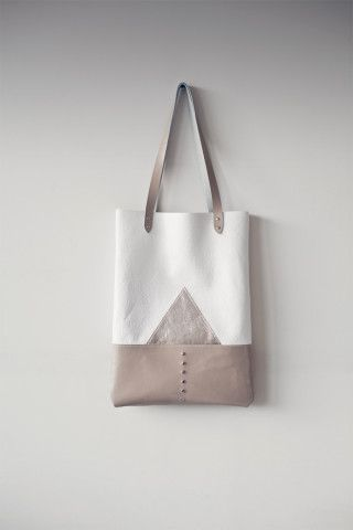 Silver Mountain Leather Tote bag