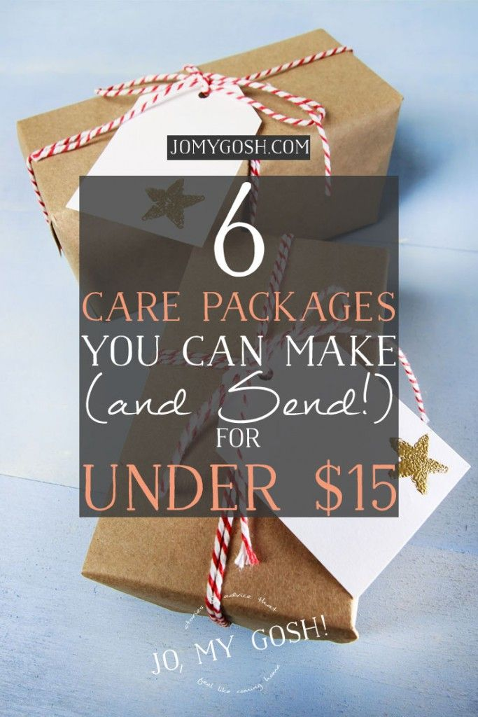 6 cute care packages that cost $15 or less to make!