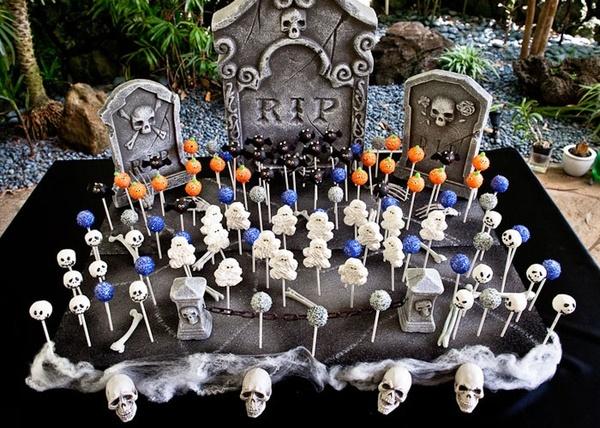 halloween graveyard set