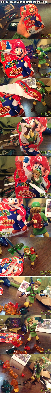 Fun way to eat gummies!