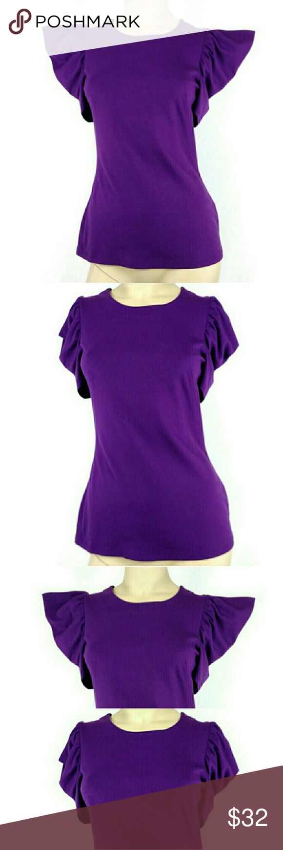 FRENCH CONNECTION PURPLE knit TOP, SMALL FRENCH CONNECTION PURPLE knit TOP. SMALL.Super cute sleeves. Brand new without tags. 128-32 French Connection Tops Blouses