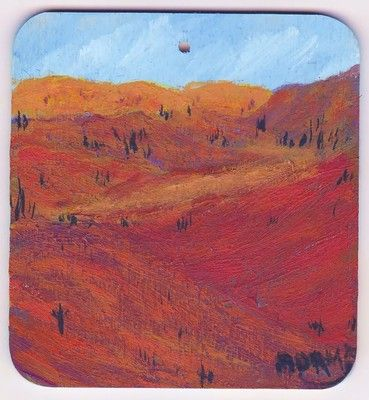 Original painting of the American Southwest hills and rock colors.  Available paintings can be seen in my ebay store: Pat-Adams-Art-Paintings-and-Photos