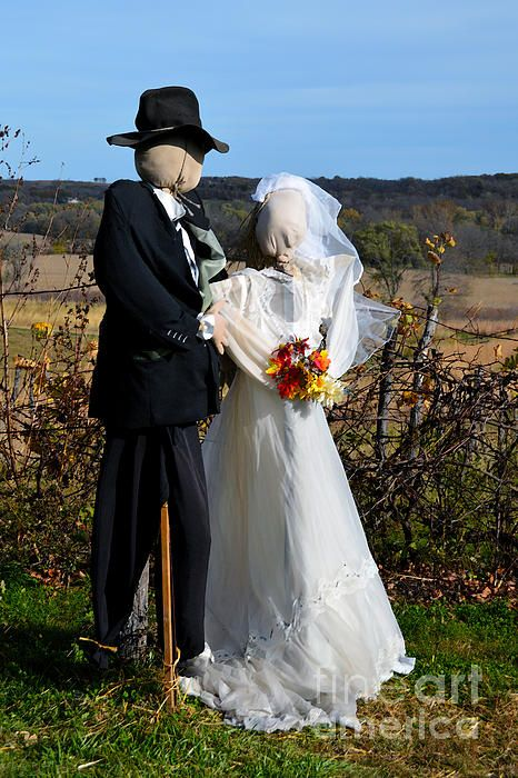Scarecrow Bride And Groom Fine Art America In 2019