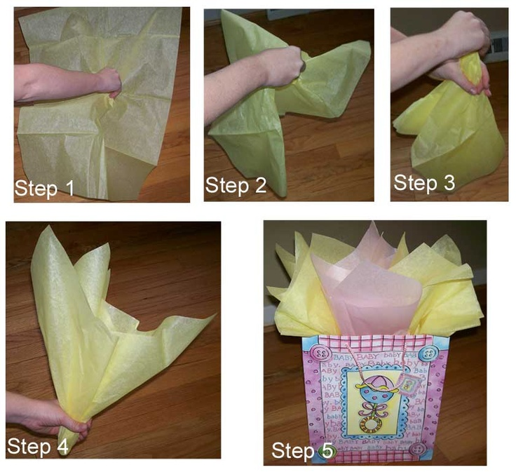 How to fold tissue paper for a gift bag. For @Sherry Loniewski