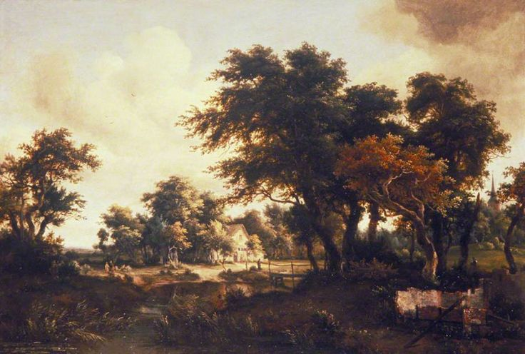 Wooded Landscape with the Ruins of a House by Meindert Hobbema   City of London Corporation Date painted: c.1663–1664 Oil on panel, 57 x 85 cm