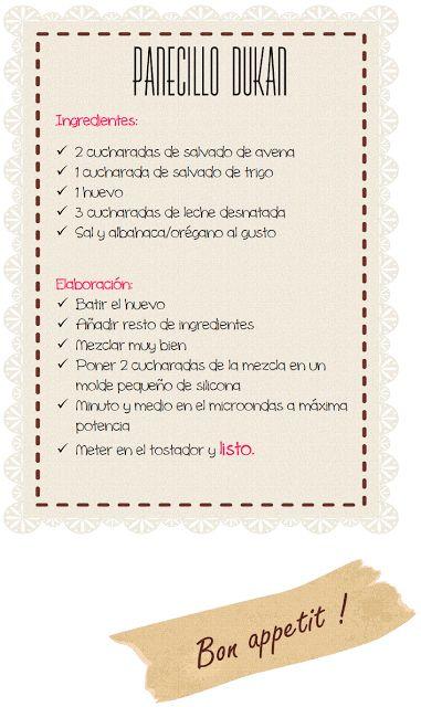 ☼ «Lunes de receta Dukan»: Panecillo Dukan (Fase Ataque)