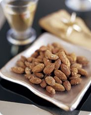Wasabi Almonds I am obsessed with these!  So good. Add a little soy sauce and you have a great healthy snack.
