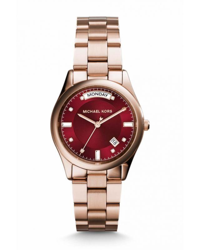 Reloj De Cuarzo Kors MK6103 para mujer Michael Rosa Dorado Caja De Acero Inoxidable