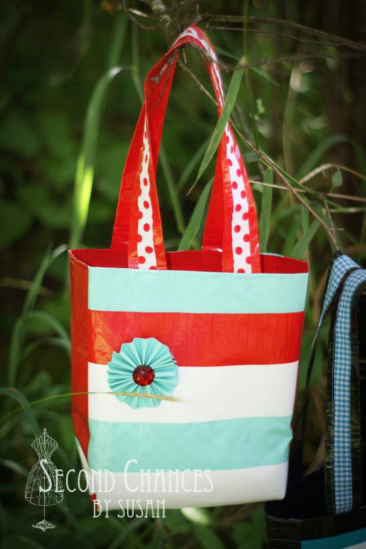 Duct tape bags & other girls camp craft ideas