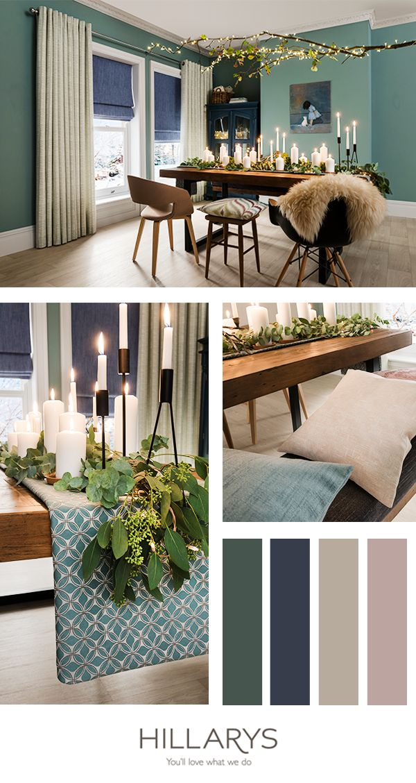 Pair Roman blinds with curtains to create an elegant feel in your dining room and make sure you go all out when laying the table! Our interior ideas will inspire you not only at Christmas but throughout the rest of the year too. Browse the whole Hillarys collection today.