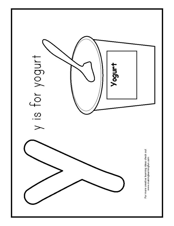 yogurt coloring pages letter y pinterest yogurt