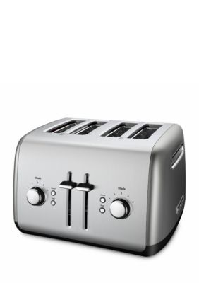 KitchenAid  4-Slice Long Slot Toaster with High Lift Lever - Contour Silver