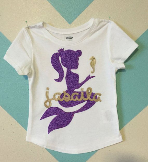 5e42d56d4115 Mermaid - Personalized Mermaid Birthday SHIRT in 2019 | Products ...