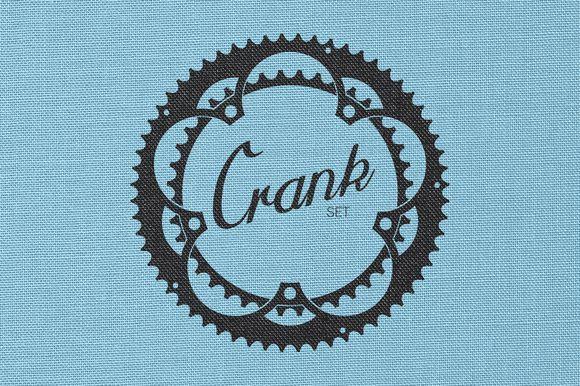 Badge Elements - Crank Set by Bearded Creative on Creative Market