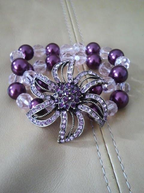 I made this bracelet easy DIY!! I love purple!!