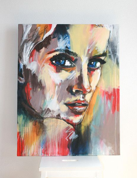 MELANCHOLIA – 70 x 90 cm – Acryl auf Leinwand von Glückskinder auf DaWanda.com
