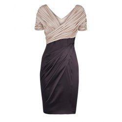 Vintage V-Neck Ruffled Criss-Cross Sleeveless Women's Dress