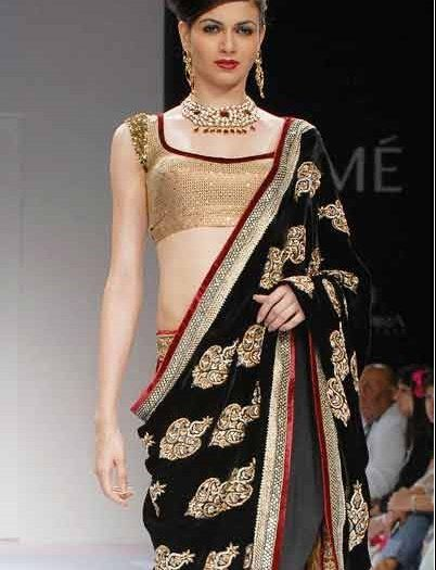 Shyamal and Bhumika saree presented by Simran Kaur.- Lakme Fashion Week spring/summer 2010