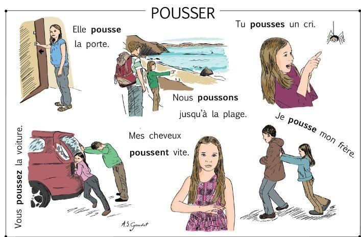 """Le verbe """"Pousser"""""""