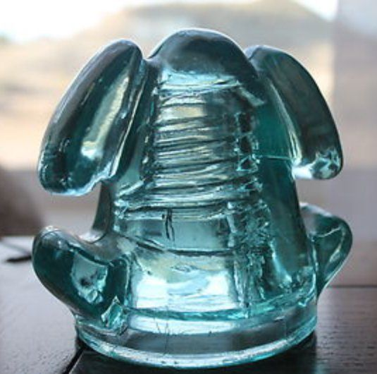 Extremely rare, light aqua CD 181, also  | Antique Glass Insulators