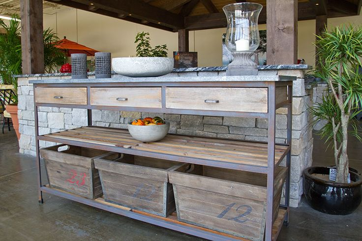 Charming Outdoor Buffet Table | Outdoor Buffet Table And Accessories | Lawn  Furniture | Pinterest | Outdoor Buffet Tables, Outdoor Buffet And Buffet
