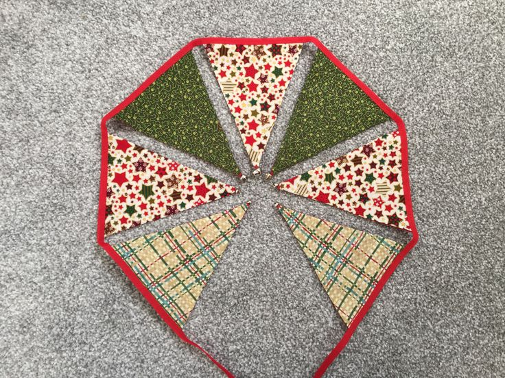 Christmas Bunting with bells - Made by Jan 2016-11