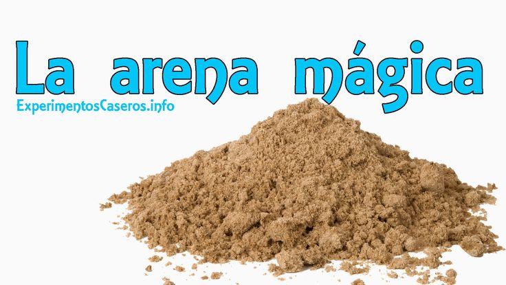 Cómo hacer arena mágica, arena mágica casera, arena impermeable, arena casera…