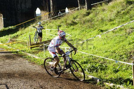 Cyclo concorrenza croce a Roma Archivio Fotografico