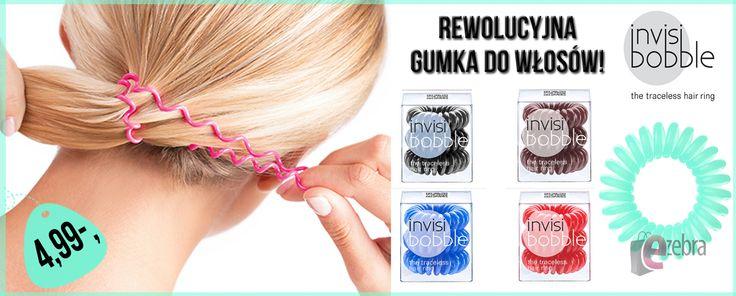 Rewolucyjne gumki do włosów Invisibobble  #invisibobble #hairstyle #hair #ponytail #włosy #fryzura #ezebrapl  http://ezebra.pl/product-pol-17453-INVISIBOBBLE-GUMKA-DO-WLOSOW-1-SZTUKA-ZIELONA.html