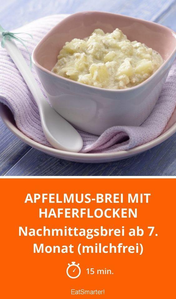 Apfelmus-Brei mit Haferflocken - Nachmittagsbrei ab 7. Monat (milchfrei) - smarter - Zeit: 15 Min. | eatsmarter.de