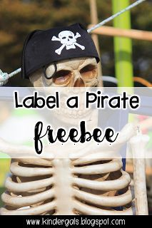 FREE Label a Pirate Poster and Recording Page.Math and Literacy ideas for International Talk Like a Pirate Day.