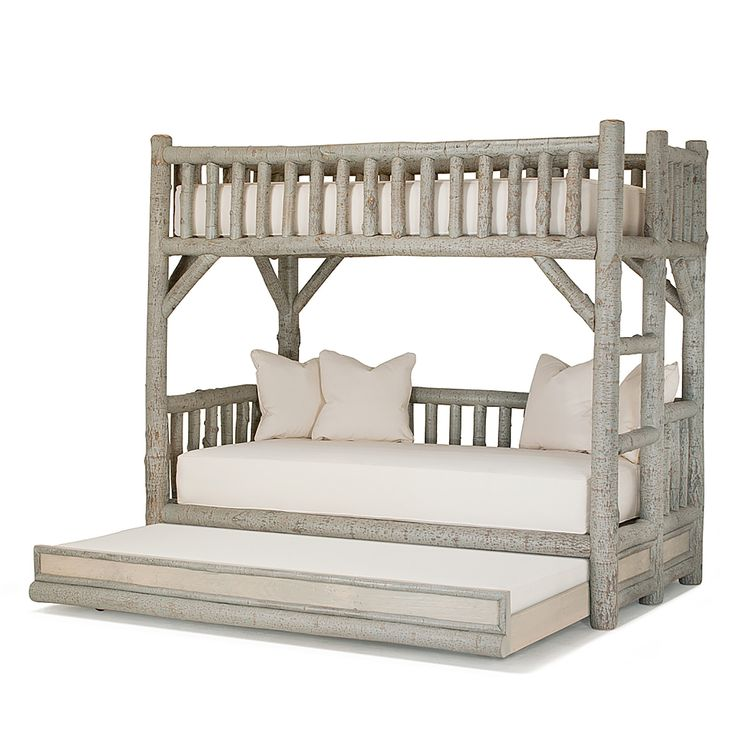 Buy Rustic Trundle Bunk Bed #4259L-4259R by La Lune Collection - Made-to-Order designer Furniture from Dering Hall's collection of Rustic / Folk Traditional Transitional Organic Beds.