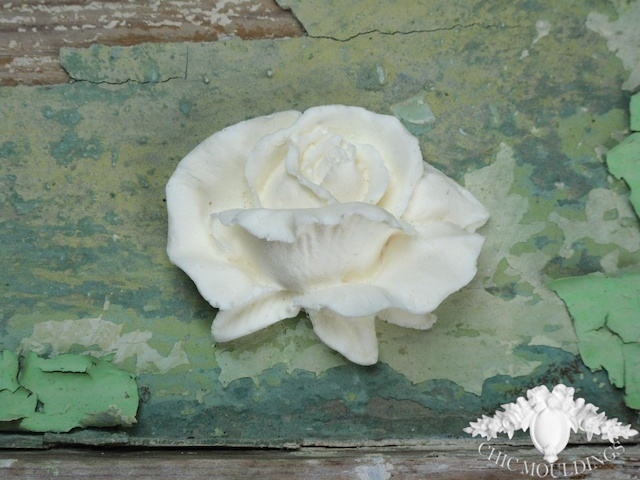 furniture appliques. shabby chic resin furniture mouldings applique large english rose worldwide post £4.99 www.chicmouldings appliques