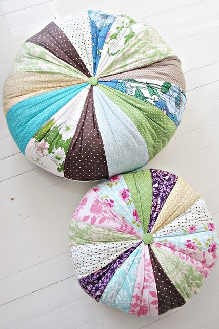Floor pillows.  I'd need to find a good pattern in order to be able to make these.