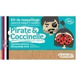 Kit de Maquillaje Infantil Ecológico, Pirata y Mariquita, 3*2,5 gramos - Natural Dublanc