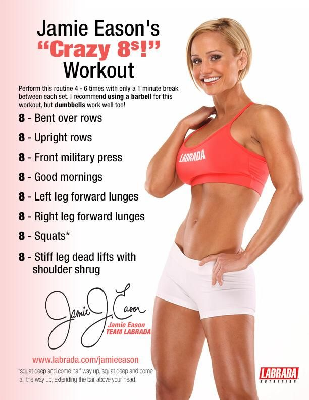 Jamie Eason's Crazy 8's #Workout