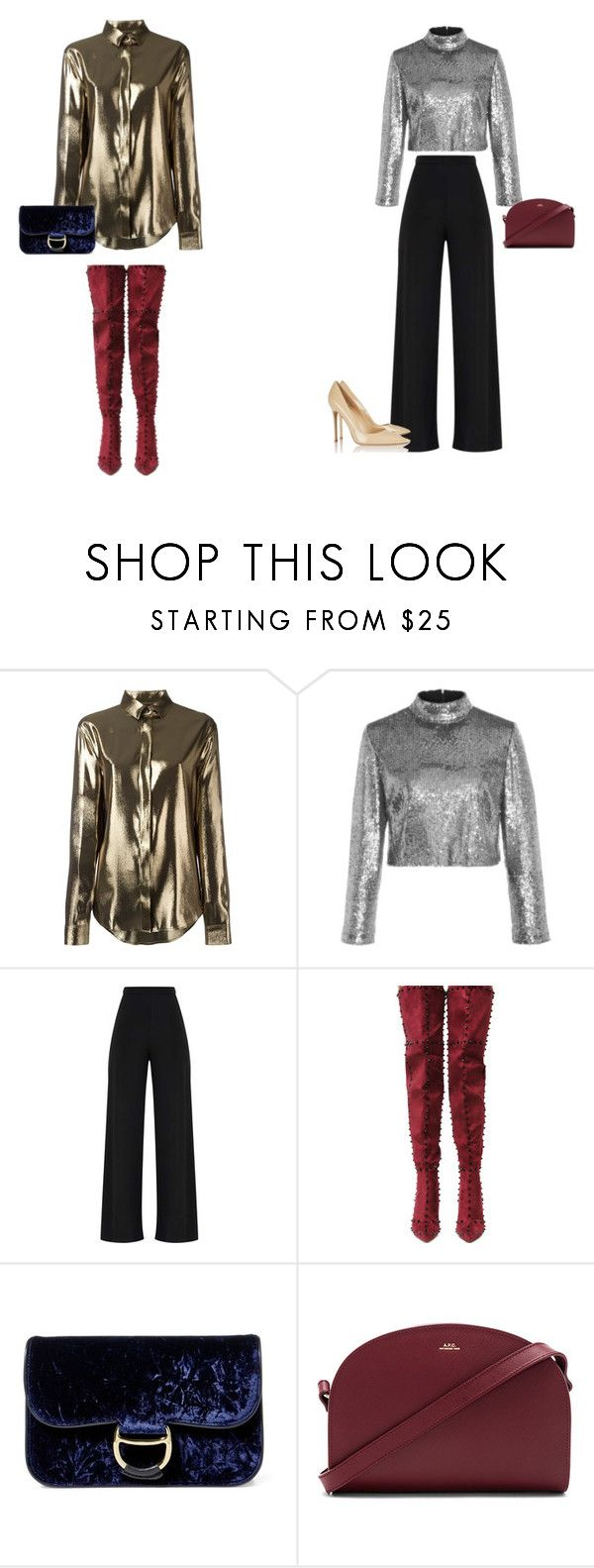 """""""Untitled #6"""" by kocze-eniko on Polyvore featuring Yves Saint Laurent, A.L.C., Cape Robbin, Polo Ralph Lauren, A.P.C. and Gianvito Rossi"""