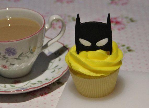 Toppers de cupcake de Batman la máscara fondant