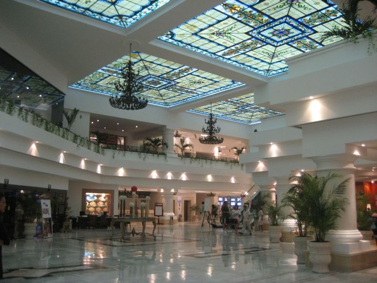 Sunrise lobby at Moon Palace Cancunyou could break your neck