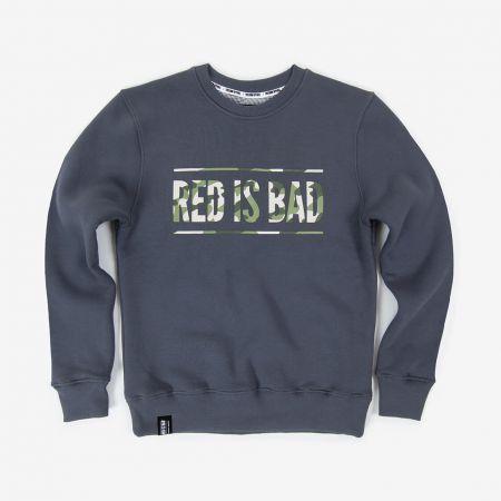 Bluza patriotyczna Bluza RED IS BAD - logo klasyk CAMO - odzież patriotyczna Red is Bad